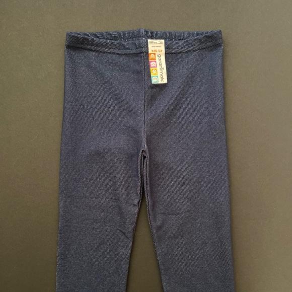 Girls Dark Knit Denim Leggings